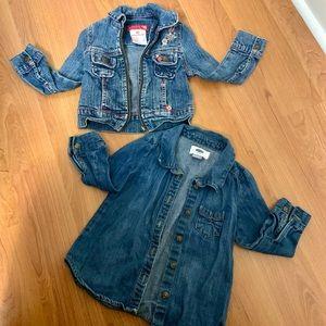 old navy bundle of denim jackets for toddlers
